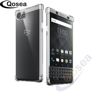 Qosea For Coque Blackberry Keyone DTEK70 Case Ultra Silicone Transparent Slim Soft TPU Protective KEYone Mercury DTEK70 Cover