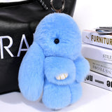 2018 Play Dead Rabbit Fur Rabbit Bunny Keychain Fashion fur pom pom keychain Rabbit