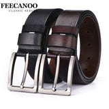 FEECANOO cowhide genuine leather belts for men brand Strap male pin buckle vintage