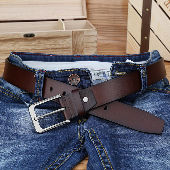 Catelles Strap Male Genuine Leather belt Designer Pin buckle men's Belts Men