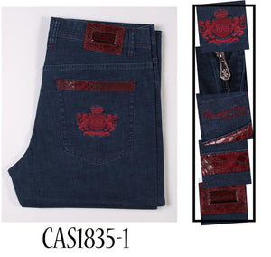 Castello dOro jeans men 2018 spring new style fashion comfort embroidery designed
