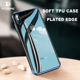 FLOVEME Luxury Soft Phone Case For iPhone X 7 8 , Transparent Silicon For iPhone 6 6s 8 7 Plus