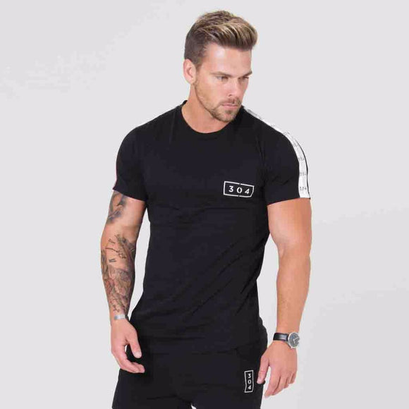 Brand gyms clothing fitness t shirt men fashion extend hip hop summer short sleeve t-shirt