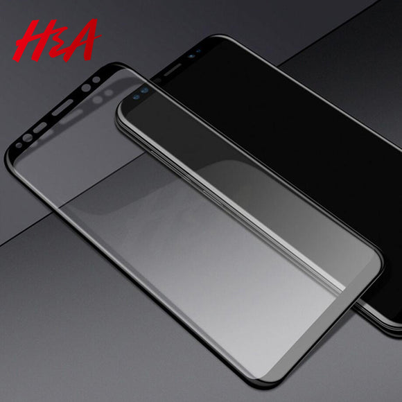 H&A 5D Full Cover Tempered Glass For Samsung Galaxy S9 S8 Plus Note 8 Screen Protector