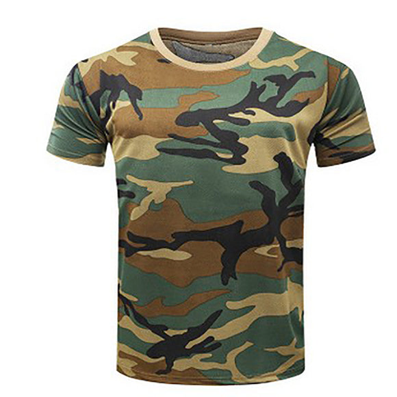New Camouflage T-shirt Men Breathable Army Tactical Combat T Shirt Military Dry Camo Camp Tees Green