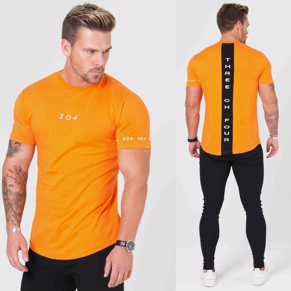 Men Fashion t shirt 2018 NEW Spring summer Slim shirts male Tops Leisure Bodybuilding