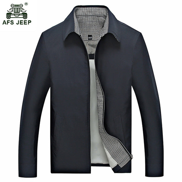 New Arrivals Casual Mens Jacket Spring Autumn Men's Zipper Jackets Middle-Aged