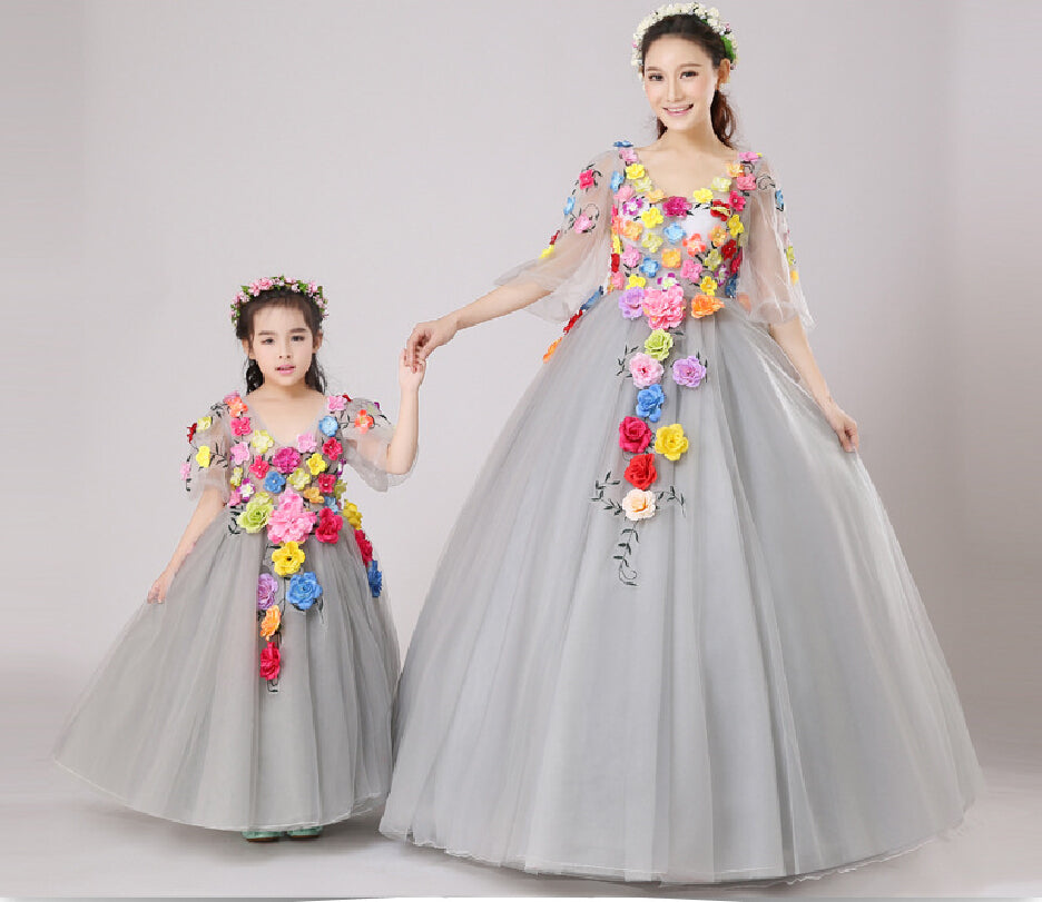 20b12a1ea8607 Family-look Mother Daughter Dresses for Weddings 2018 Summer Family-clothing