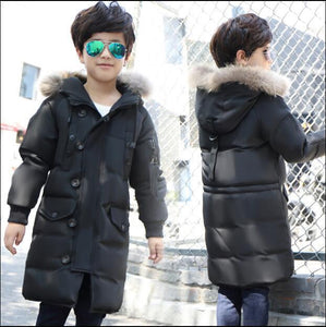 White duck down 2017 new children down jacket and long sections boy big  girls thick winter coat jacket