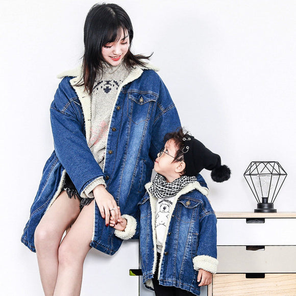 Family Look 2018 winter Fashion Mother Baby clothes Mommy and Me Clothes Family