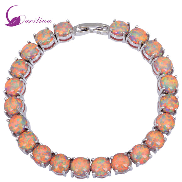 Glam Luxe Mysterious Silver Brown Opal Bracelets & bangles for women pulseiras