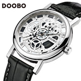 2018 DOOBO Brand Mens Watches Luxury Military Sport Wristwatch Leather Hollow Quartz