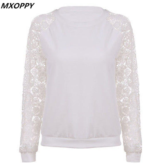2018 Spring Lace Hoodies Sweatshirt Top Women Hollow Out Sweatshirt Female Long-sleeved