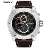 SINOBI top brand chronograph waterproof men's watch