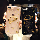 6 6S Plus Phone Case For iPhone 7 Cases Saturn Transparent Silicone Cover For iPhone 8 Covers