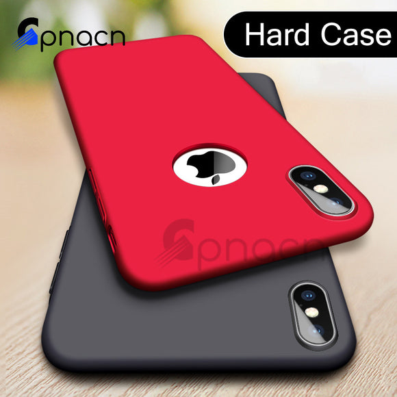 Luxury Hard Plastic Matte Case For iPhone 6 6s 7 Plus Full Cover PC Phone Case For iPhone