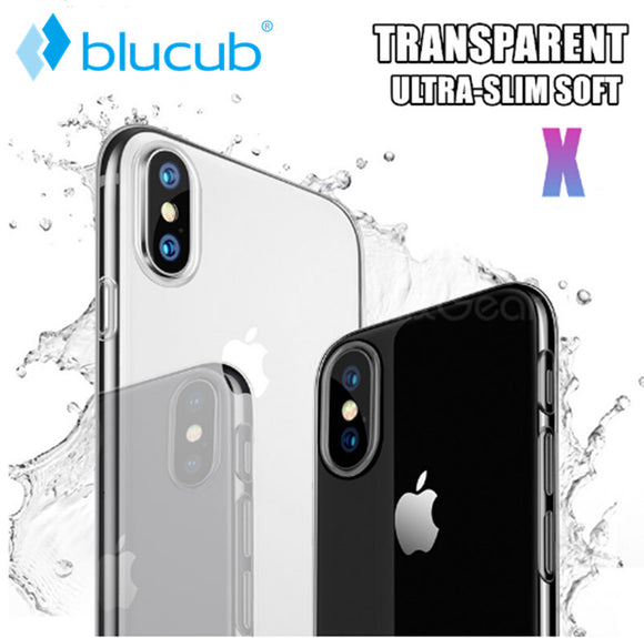 Luxury Case For Apple iPhone X 10 Case Soft Silicone Clear Transparent TPU Back Cover