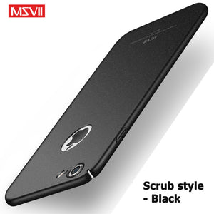 msvii For iPhone 8 Plus Case 5 5S SE Luxury Slim hard PC coque For apple iPhone X 10