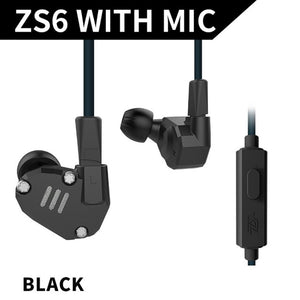 KZ ZS6 Earphone Eight-cell Ring Iron Aluminum Alloy Earphones 3 Colors High Fidelity