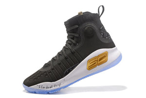 Under Armour UA Men's Curry 4 Sport Basketball Sneakers Outdoor Medium Top Athletic Unique Knitted Socks Design New Color Shoes