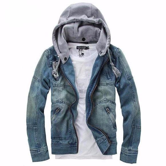 Jeans Jacket Men 2018 Fashion Mens Casual Denim Jackets Autumn Spring
