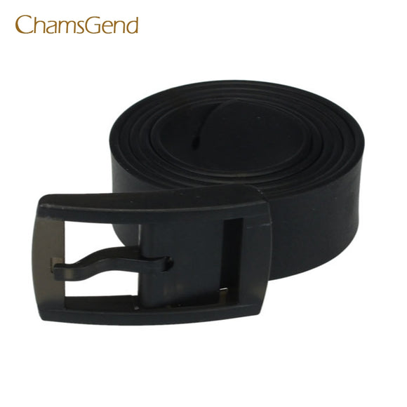 Chamsgend Coolbeenr Men Womens Unisex Smooth Silicone Rubber Leather Belt Plastic Buckle New Dec8