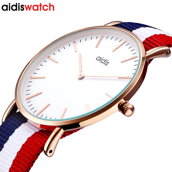 Hot Sale Lover's nylon Watch waterproof Women Quartz Watch Casual Men Wristwatch For Female Quartz Watch Relogio Masculino