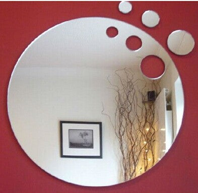 3pcs 15cm cut out round wall decorative sticker ,3D crystal mirror wall sticker,2pcs/lot