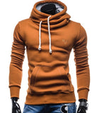 2018 New Spring Autumn Hoodies Men Fashion Brand Pullover Solid Color Turtleneck