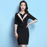 2018 New Arrival Spring Summer Women Elegant Business Formal Office Work Wear Half