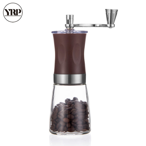YRP Manual Coffee Grinder Portable Hand Coffee Maker Washable Manual Burr Coffee Bean Grinder Machine  Home&Kitchen