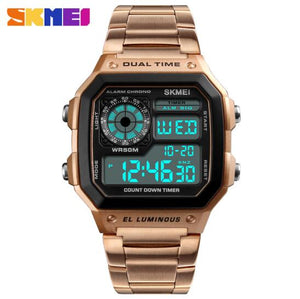 2018 SKMEI Smart Watch Clock Mens Watches Top Brand Luxury Silicone Strap Army