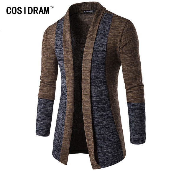 COSIDRAM 2018 New Men's Fashion Cardigan Casual Cotton Stitching Sweatshirts MC-003
