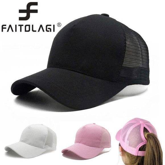 2018 New Fashion Baseball Hats Women Men Baseball Cap Women Messy Bun Baseball