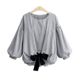 2018 New Women Spring Summer Blouse Shirt Plus Size 5XL Loose Lantern Long Sleeve