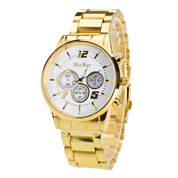 2018  Fashion Watch Gold Color Mens Watches Casual Top Brand Luxury Hot Selling Men
