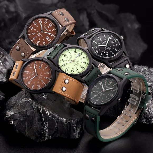 2018 Fashion Casual Mens Watches Luxury Vintage Classic Men's Waterproof Date