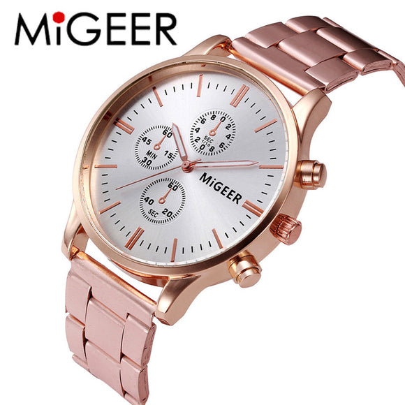 2018 Luxury Fashion Men Watches Quartz Fashion Women Crystal Stainless Steel Analog