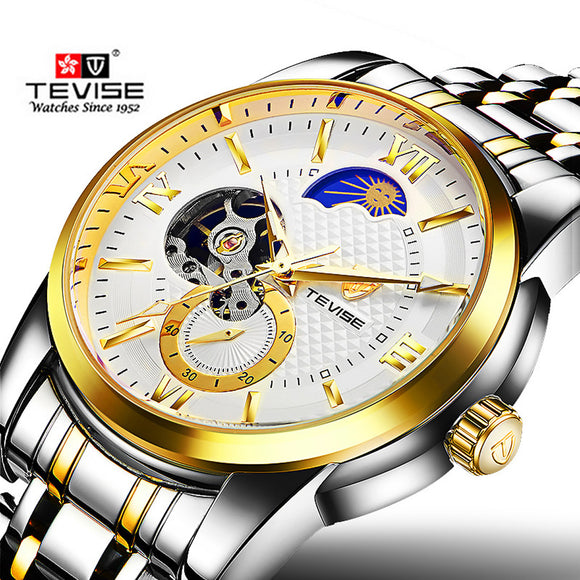2018 Men Watches Top Brand Luxury Moon Phase Mechanical Watch relogio masculino