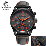 2018 Mens Watches Business Luxury Brand Chronograph Watch Sport Quartz Wrist Watch