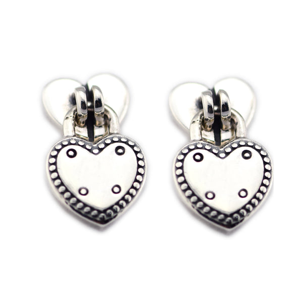 2018 Valentine's Day Authentic 925 Sterling Silver Love Locks European Style Jewelry