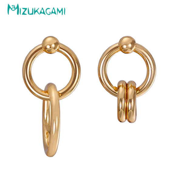 2018 Top Fashion New Brincos Pendientes Mujer Simple Hollow Out Round Drop Earrings