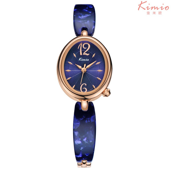 2017 New Kimio Fashion Brand Colorful Strap Watches Women Oval For Sharpwatch Dial