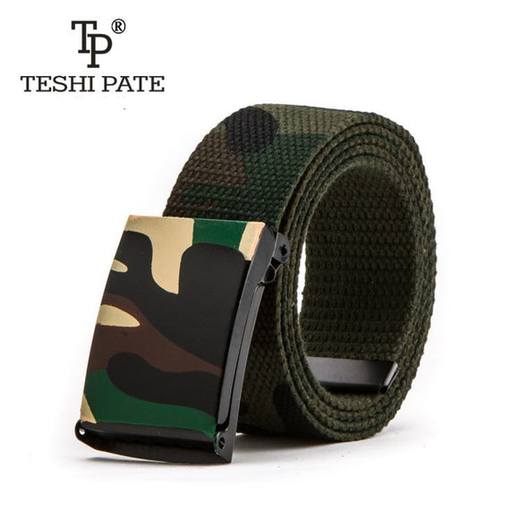 2018 new Camouflage printing Hip-hop graffiti Korean version of the trend Casual belts
