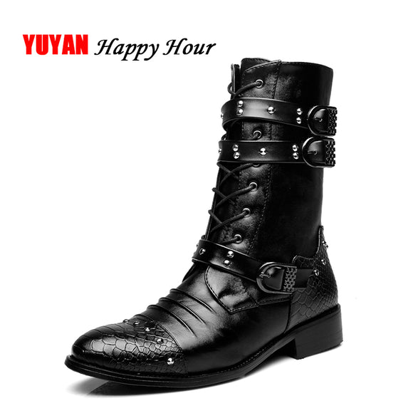 2018 Autumn Winter Shoes Men Fashion Motercycle Boots Soft Leather Warm Shoes Men's Boots Male Brand