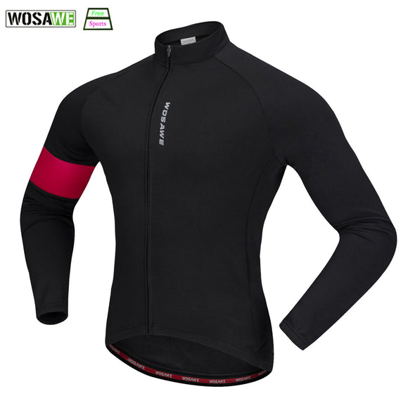 WOSAWE 2017 Winter Cycling Jersey Thermal Fleece Warm Windproof Road Cycling Motocross Jersey Long Sleeve Bicycle Clothing