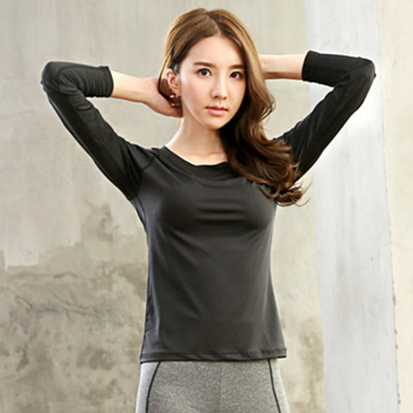 women yoga sports T-shirt Professional workout  breathable fitness shirt long-sleeved top clothing