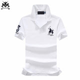 16 colors 2018 Summer brand cotton horse mens short sleeve polos mens lapel polo shirts