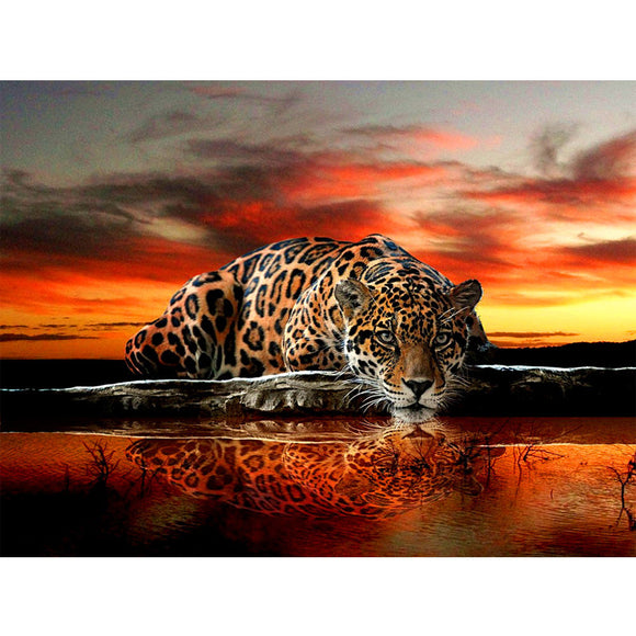 Diamond Embroidery,leopard,tiger,5D,sunrise,sunset,Diamond Painting,Cross Stitch,3D,Diamond Mosaic,home Decoration,Christmas