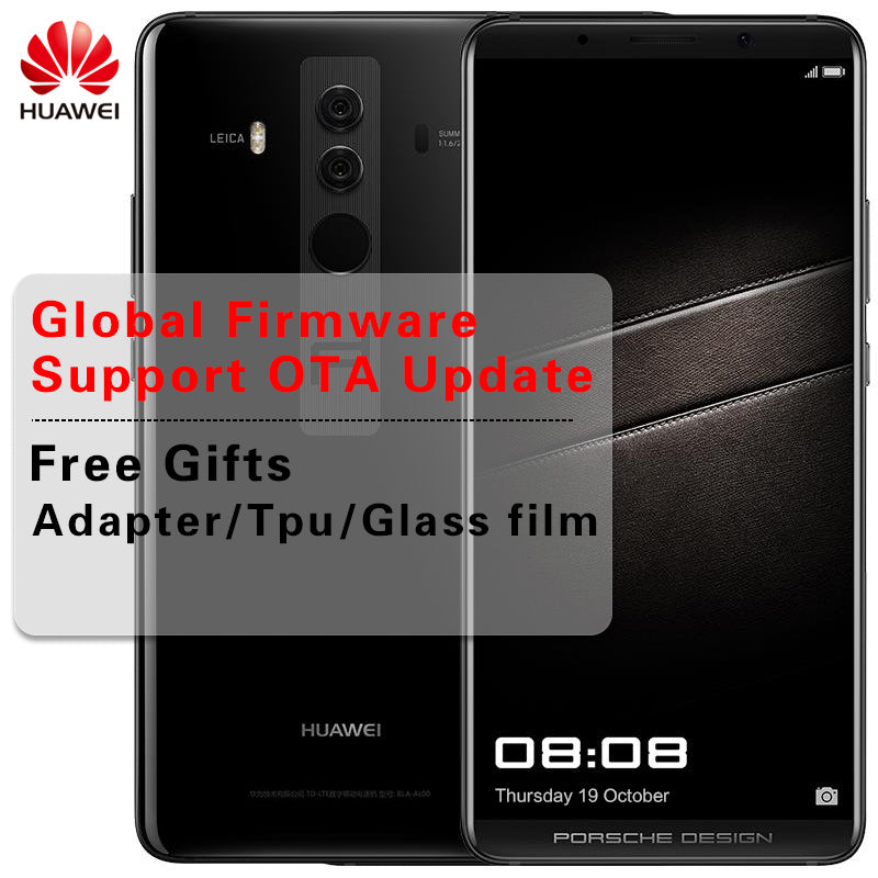 PORSCHE DESIGN HUAWEI Mate 10 Mobile Phone Kirin 970 Octa Core 6 0 '' Full  View Screen Android 8 0 Water Resitant NFC Infrared